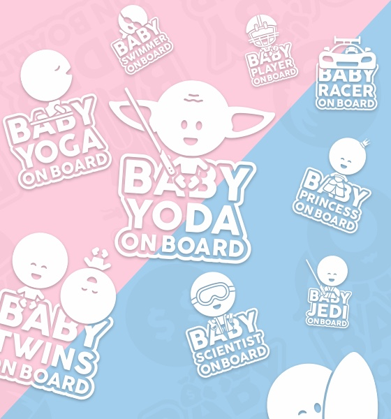 Havalı Anneler ve Babalar için Gemide Bebek Sticker Tabelaları